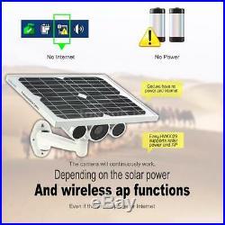 Wanscam HD 1080P WiFi Solar & Battery Power Outdoor CCTV IP Camera P2P Cloud APP