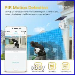 WiFi IP PTZ Camera 1080P HD Solar Power Security Outdoor CCTV Night Vision Cam