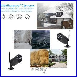 Wireless 4CH 1080P CCTV NVR IR Night Vision WIFI 1MP Camera Home Security System