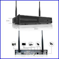 Wireless 4CH 1080P NVR 1TB Hard Drive IR-cut CCTV Outdoor Security Camera System