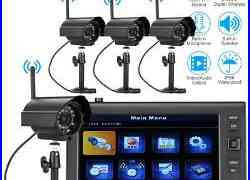 Wireless 7TFT LCD 2.4Ghz CCTV DVR Outdoor Night Vision Camera Security System