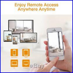 Wireless 8CH H. 265 NVR Outdoor WiFI 1080P IR-CUT IP Camera Security System Kit