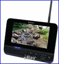 Wireless CCTV Camera & 7 LCD Monitor DVR Motion Detect Home Security System