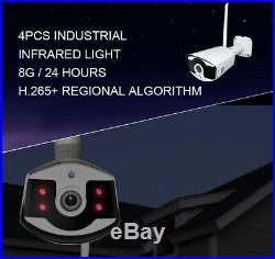 Wireless CCTV Security System 2MP HDMI 8CH NVR Outdoor Cam with IP66 Night IR