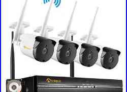 Wireless Security Camera System 1080p HD 4CH WIFI NVR 1TB Home CCTV Kit