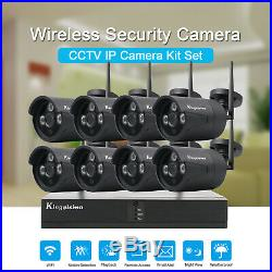 Wireless Security Camera System 4/8CH HD 720P CCTV WIFI Kit NVR Outdoor
