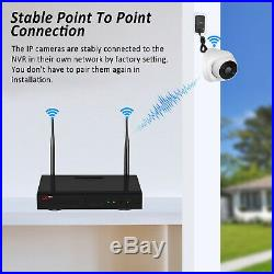 Wireless Security Camera System Outdoor Wireless 1080P Audio Recording CCTV 8CH