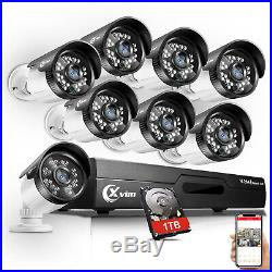 XVIM 1080N HDMI HD-TVI 8CH 4CH DVR IR Night CCTV Security Camera System 1TB US