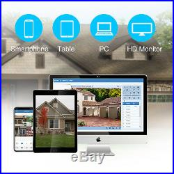XVIM 8CH 1080P CCTV DVR 1500TVL Outdoor Home Surveillance Security Camera System