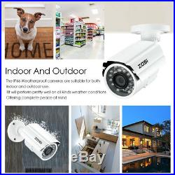 ZOSI 16CH HDMI DVR IR Night Vision 1080P Camera Outdoor CCTV Security System