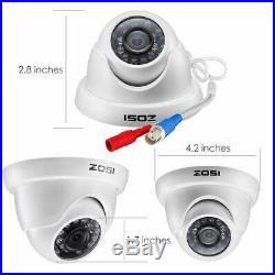ZOSI 16Channel HDMI DVR CCTV 720p Security Cameras System Outdoor Camera 2TB HDD