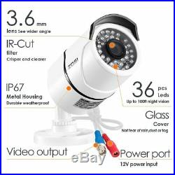 ZOSI 4/8CH1080P DVR Night Vision Outdoor CCTV Security Camera System 0-2TB HDD