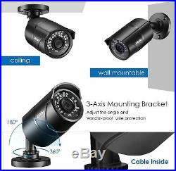 ZOSI 5MP CCTV Super HDMI DVR Extreme Home Outdoor Security Camera System 1TB HDD