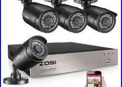 ZOSI 8CH 1080p 4in1 DVR 2MP 2000TVL Outdoor IR CCTV Home Security Cameras System