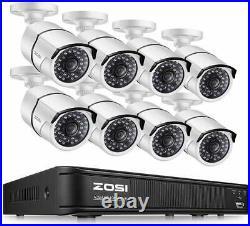 ZOSI 8CH 1080p DVR 2MP Outdoor Camera IR Home cctv Security System Night vision