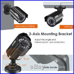 ZOSI 8CH 720P CCTV Security Outdoor Camera DVR Night Vision System 0-1TB HDD