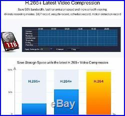 ZOSI 8CH DVR 1080P 24 IR Leds CCTV Security Camera Night Vision Motion System
