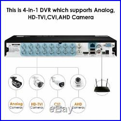ZOSI H. 265+ 16 Channel 1080N CCTV DVR Recorder with 2TB for Security Camera Kit