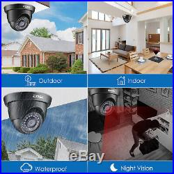 ZOSI HD 1080P TVI Security Surveillance Outdoor Dome Camera 65ft Night Vision