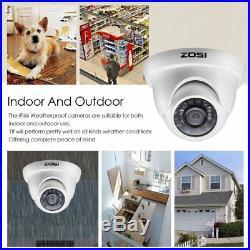 ZOSI HD 4CH 1080P DVR 1500TVL 1TB Outdoor Day Night CCTV Security Camera System