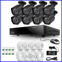 Zmodo 1080p 8CH HDMI NVR 8 IP Outdoor Surveillance Camera PoE System with IR Night