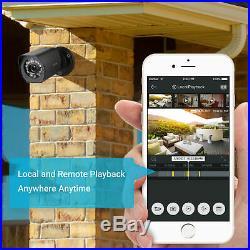 Zmodo 720p 8CH HDMI NVR 4 IP Outdoor Surveillance Camera PoE Security System