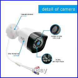 Zoohi 1080P CCTV Security Camera System Outdoor 4CH 1TB Hard Drive Night Version